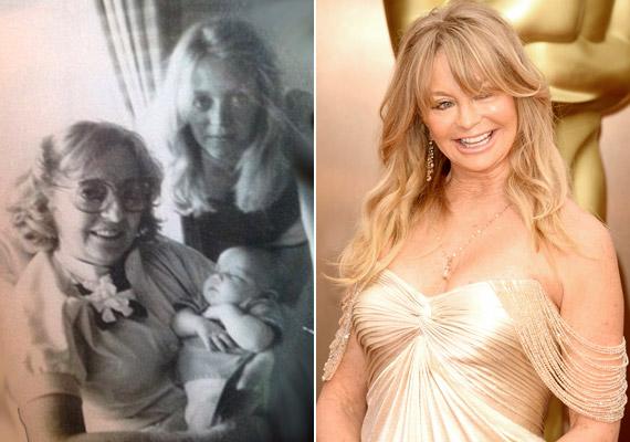 Talán nem gondoltál bele, de a Goldie név tulajdonképpen az Aranka tükörfordítása, amelyet Laura Hawn adott a ma már Oscar-díjas lányának, Goldie Hawnnak. A jobb oldali, 1979 körüli képet a színésznő lánya, Kate Hudson tette fel az Instagramra - a három generáció nőtagjai szerepelnek rajta.