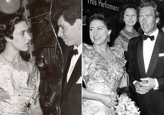 Magit hercegnő 1960-ban ment férjez Antony Armstrong-Jones fényképészhez, akit Erzsébet királynő a házasság után Snowdon grófjává tett meg (jobbra). Két gyermekük született, majd megismerkedett Liz Taylor akkori férjével, Eddie Fisherrel (balra), akivel évekig titkos szerelmi viszonyt folytattak.