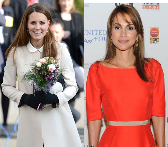 Katalin hercegné a második, míg a 42 éves Rania jordániai hercegnő a harmadik lett.