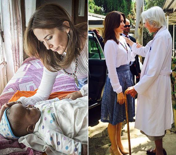 A hercegnő ellátogatott egy olyan otthonba, ahol megerőszakolt nők élnek a kisbabájukkal, a négy hónapos Abel babával játszott is egy kicsit, a kisfiú kacarászott és gügyögött neki. Majd meglátogatta a 91 éves Catherine Hamlin doktornőt, aki igazi élő legendának számít Etiópiában. Neki köszönhető, hogy Addisz-Abebában létrejött egy olyan nők számára fenntartott kórház, akiknél elhúzódó szülés miatt sipoly alakult ki, ami gyakori betegség olyan fejlődő országokban, ahol a szülés nem megfelelő orvosi körülmények között zajlik.