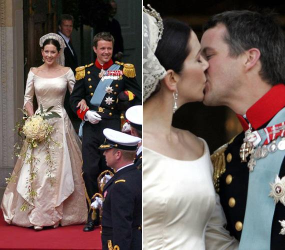 A 40 éves Mária hercegnő és a 43 éves trónörökös 2004. május 14-én kelt egybe a koppenhágai székesegyházban.