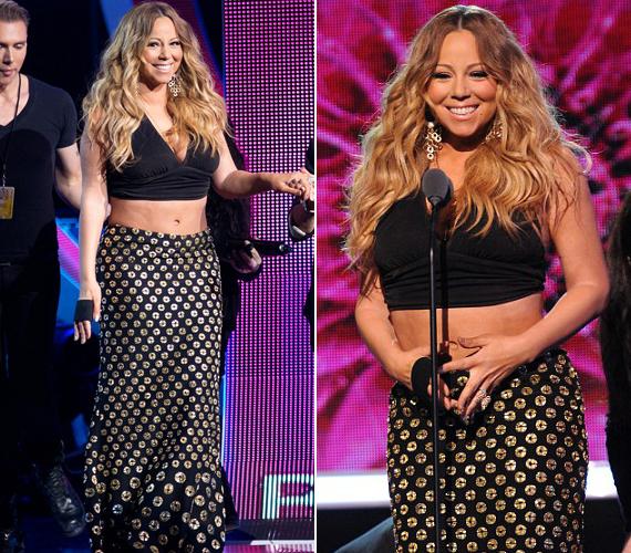 Mariah Carey a BET-gálán is kiakasztotta az embereket. Pedig itt csak a hasát mutogatta.