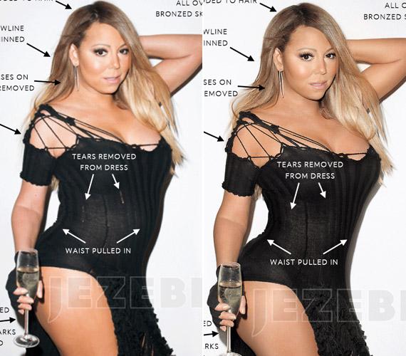 Mariah Carey-t a Wonderland magazin felkérésére fotózták, a nyers képeken látszik, elrepedt a ruha az énekesnőn.