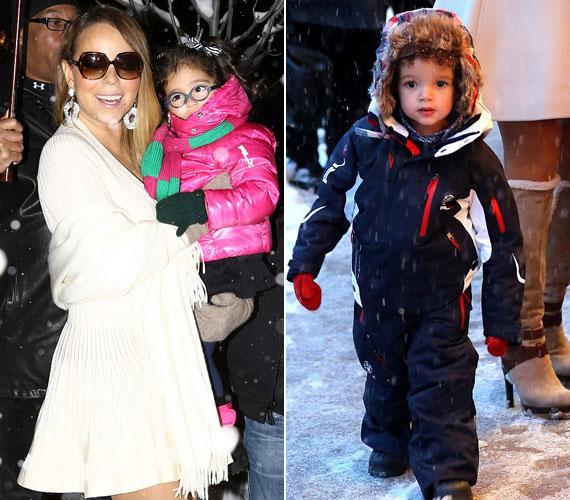 Míg a gyerekeket a havas, fagyos időhöz öltöztette a díva, ez a saját öltözetéről nem volt elmondható.
