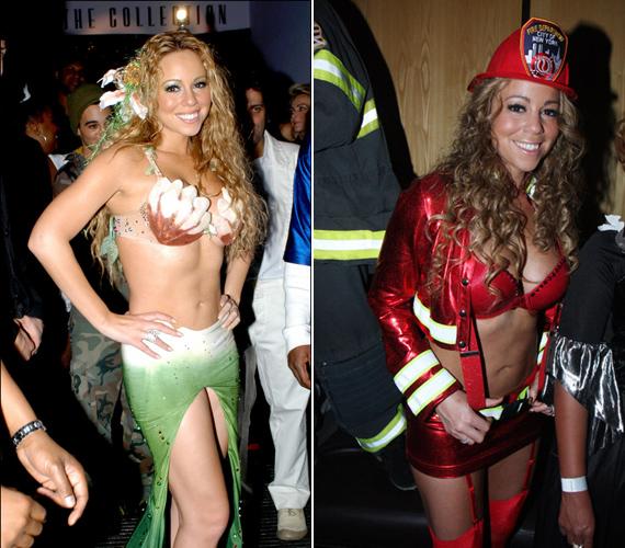 Mariah Carey hableány- és tűzoltójelmezben igyekezett megőrizni szexis imidzsét.