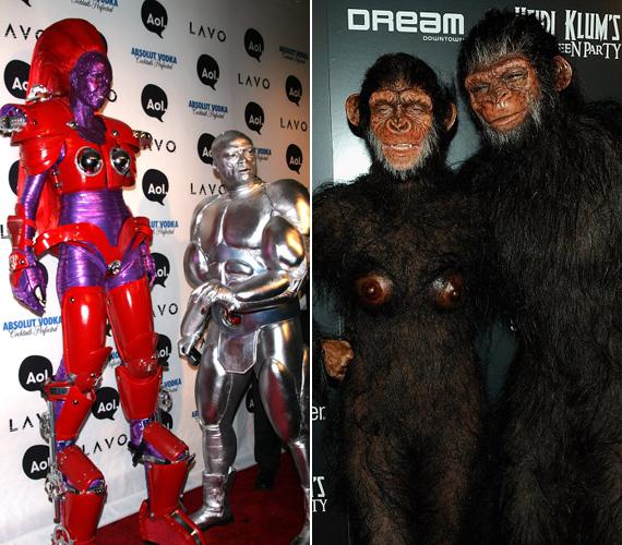 Bizonyára kevesen ismernék fel őket: a jelmezben Seal és Heidi Klum látható. Valószínűleg ők voltak az egyik legtalálékonyabb és legőrültebb pár egész Hollywoodban.