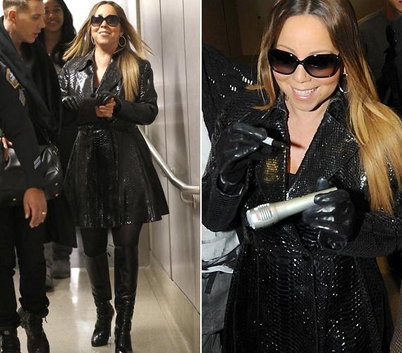 Úgy tűnik, Mariah Carey-nek nem számít a kényelem, aki díva, az a repülőúton is díva marad.