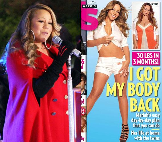 Mariah Carey a terhessége alatt nagyon meghízott, ám a US Weekly legújabb számának címlapján büszkén mutatta meg karcsú vonalait.