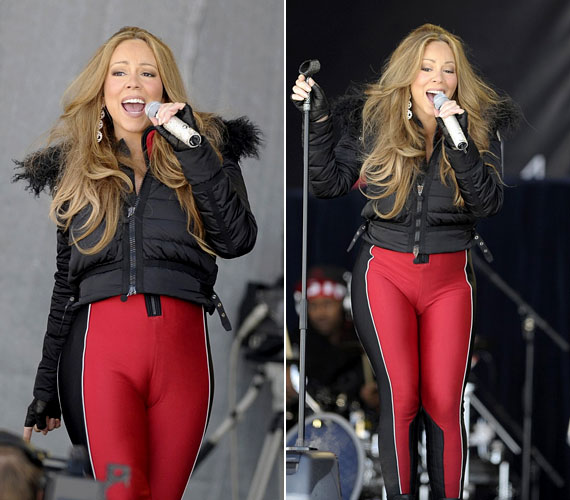 Nem biztos, hogy a szűk nadrágokat tovább kellene erőltetnie. Ez a piros darab még inkább kihangsúlyozza vastag csípőjét.
