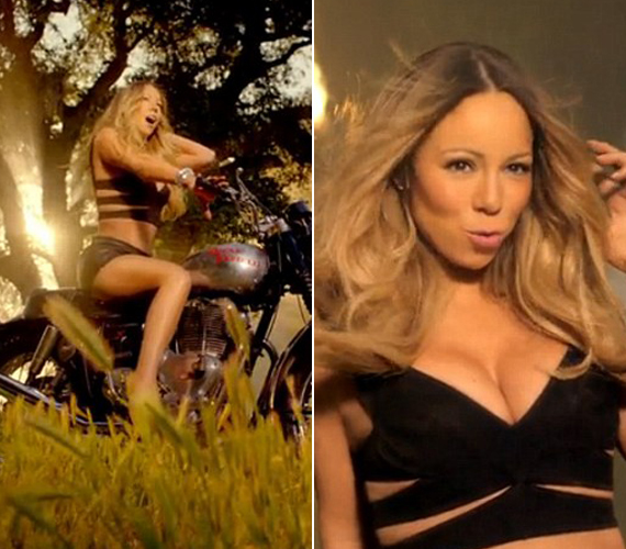 A szexisre sikerült videóban nem takargatta bájait az énekesnő.