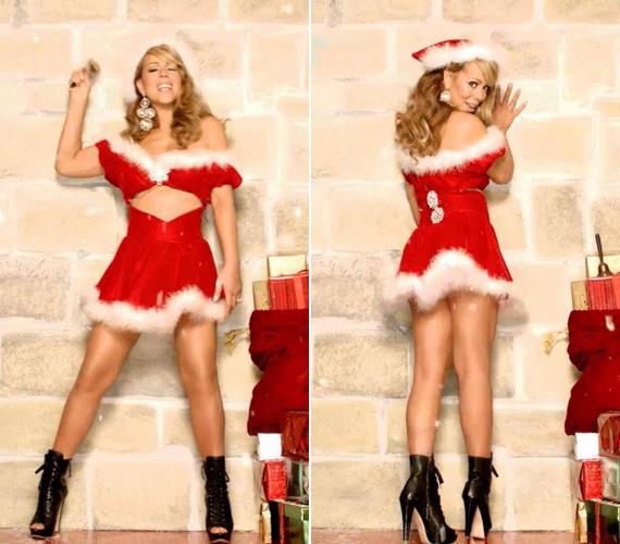 Minél rövidebb és minél kivágottabb legyen. Ezek az ismérvei az énekesnő karácsonyi jelmezeinek.