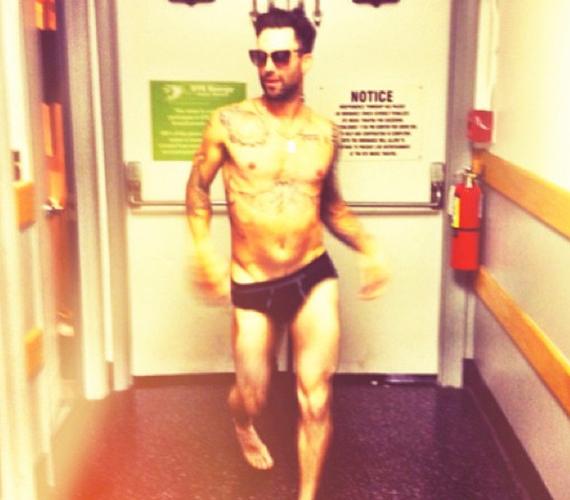Adam Levine barátnője kedvéért vállalta be a fotót.