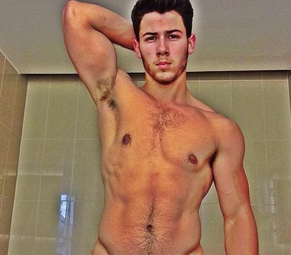 Nick Jonas edzés után akart büszkélkedni izmaival.