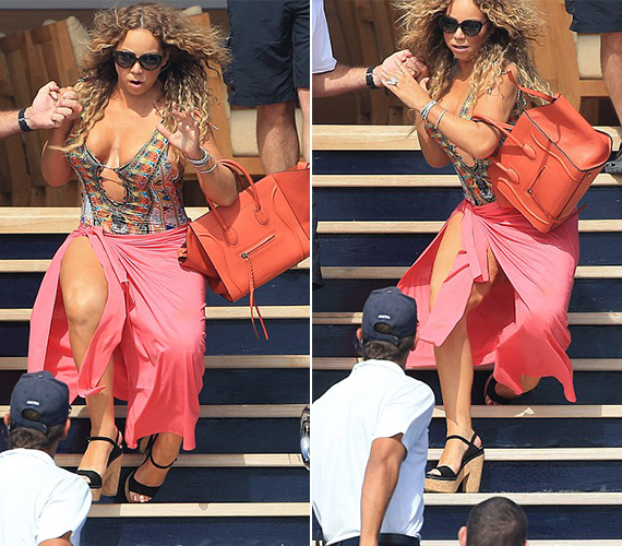 Mariah Carey megbotlott a lépcsőn, és ha nincs mellette tehetős szerelme, valószínűleg nem úszta volna meg sérülések nélkül. Az internetezők most azon vitatkoznak, hogy az alkohol miatt bukdácsolt-e a sztár, vagy csak véletlenül történt az eset.