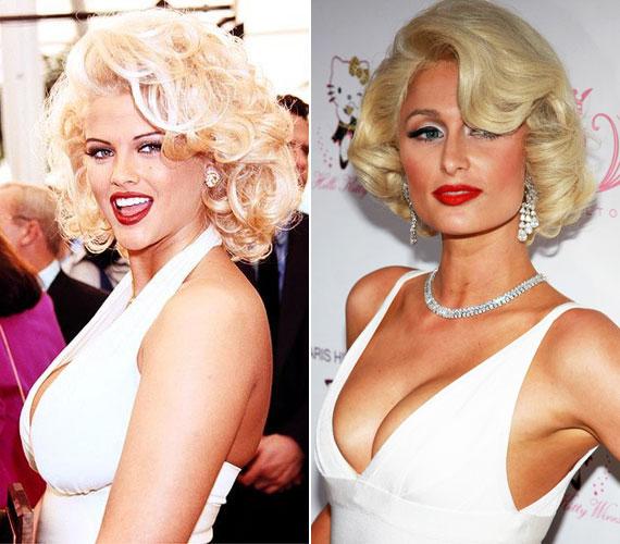 Két botrányhősnő, a szintén tragikusan elhunyt Anna Nicole Smith, továbbá Paris Hilton sem tudta kihagyni a Marilynné átlényegülést.