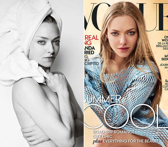 Amanda Seyfriedet nemrég fotózta Mario Testino a Vogue 2015 júniusi számához, és egyben meglett a törülközős sorozat 77. darabja. A 29 éves színésznő meztelennek tűnik a fotón, azt a bizonyos törülközőt sem a testén, hanem a fején viseli.