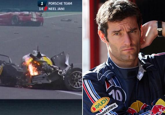 Az ausztrál versenyző már a hordágyon intett, hogy nincsen nagy gond vele, ami a kocsiját elnézve tiszta csoda.