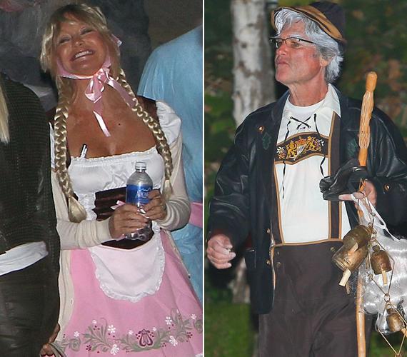 Goldie Hawn és partnere, Kurt Russell nem tudták eldönteni, hogy egy idősebb Jancsi és Juliskának vagy az Octoberfest felszolgálóinak öltözzenek-e be, így maradt egy furcsa vegyítés.