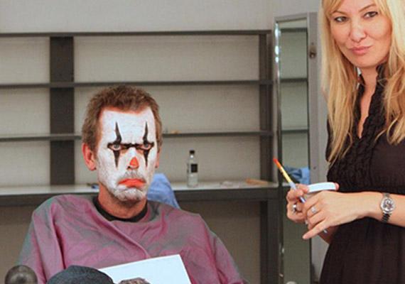 Hugh Laurie is szeretett viccelődni a forgatási szünetekben.