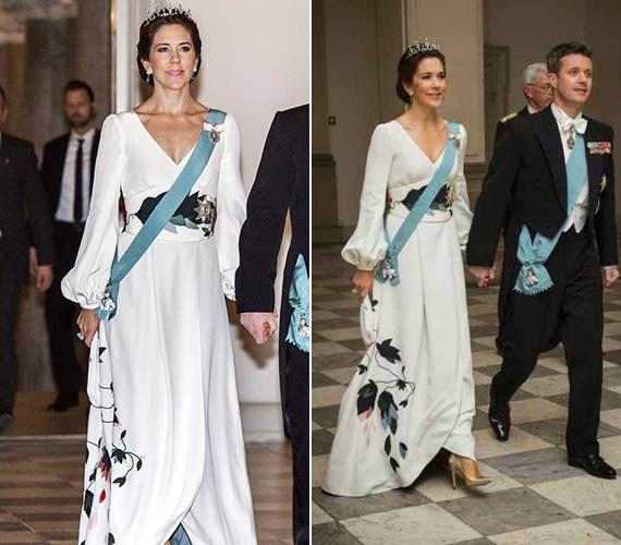 A hétvégén bankettet is adott a hercegi pár a Christiansborg-palotában, amely a dán parlamentnek is helyet ad.