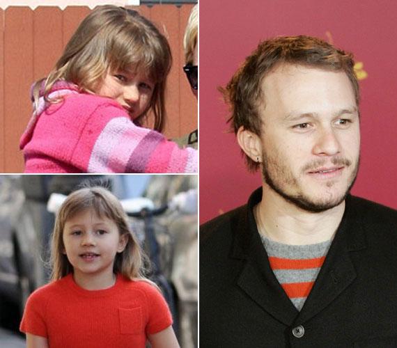 A 2008. január 22-én elhunyt színész és lánya között döbbenetes a hasonlóság.