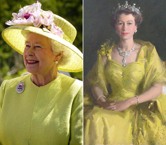 Ugyancsak 2012 júniusában, amikor a hónap végén Írországba látogatott, egy másik, élénkebb sárga ruhát öltött. Egy fiatalkori portréjához is sárgába öltözött.