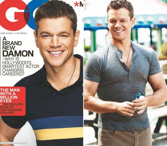 A 2012-es GQ magazin címlapján már ismét a jóképű Matt Damon néz az olvasókra.