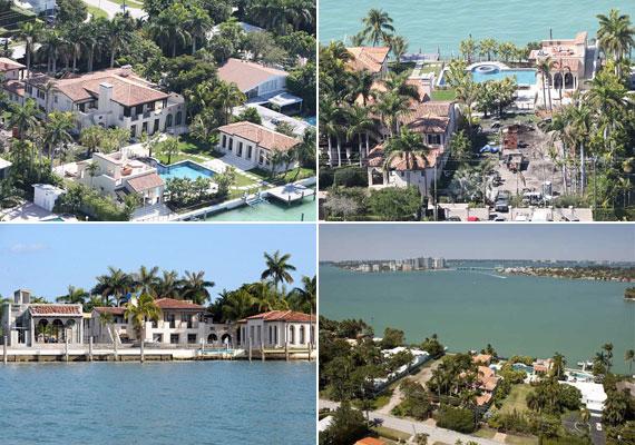 Az ingatlan pálmafák között, a floridai tengerparton terül el. A villához természetesen tartozik vendégház is.