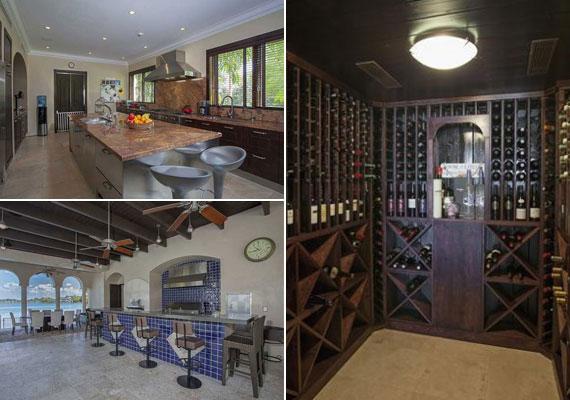 A tágas konyha és bár mellett borospince is áll a gasztronómiai élvezetek szolgálatában.