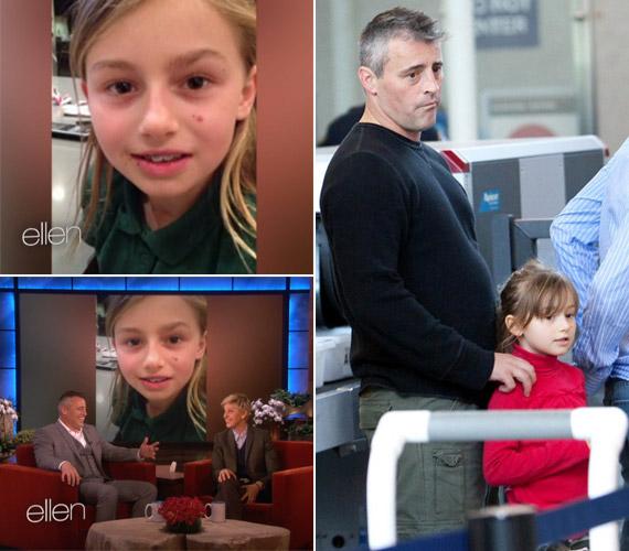Marina Ellen DeGeneres januári talkshow-jában, valamint 2010 decemberében édesapjával a Los Angeles-i reptéren.
