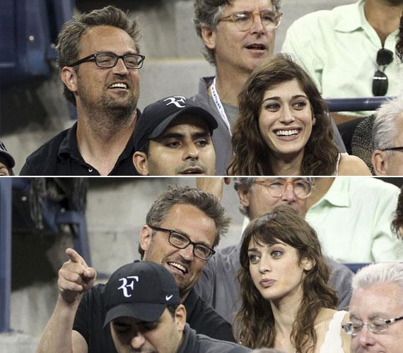 A fotók tanúsága szerint a sztárpár nagyon jól érezte magát a teniszmeccsen, de amiatt sem aggódtak, hogy lefényképezik őket.