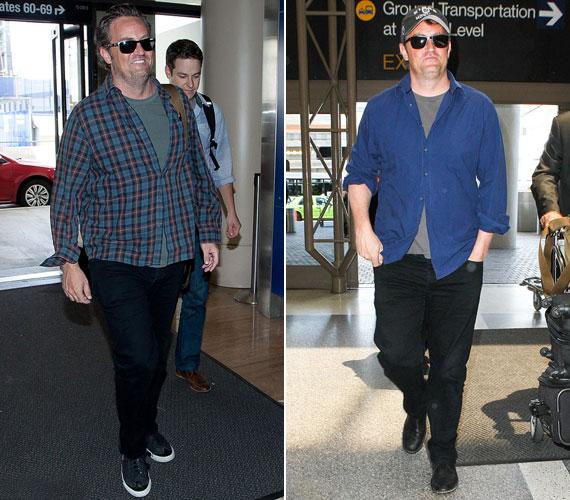 Az egész alakos képeken még inkább látszik, hogy a színész átlagos testalkatú férfiből kövérré vált.