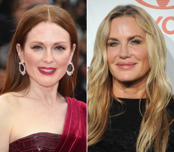 Julianne Moore és Daryl Hannah napra pontosan ugyanakkor, 1960. december 3-án született. Az 54 éves színésznők arca azonban teljesen mást mutat. Hannah-nak ugyan nincsenek ráncai, de az arca és a szája természetellenesen fel van puffadva.