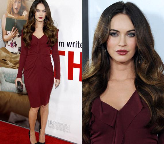 A vörös szín igazi végzet asszonyává varázsolja a csinos színésznőt.