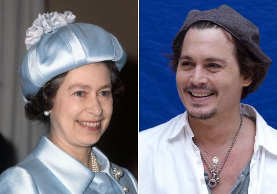 Johnny Depp és Erzsébet királynő 20. unokatestvérek, mindketten III. Edward leszármazottai.