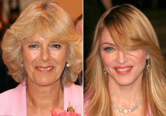 Madonna kilencedik unokatestvére Camilla Parker Bowlesnak.