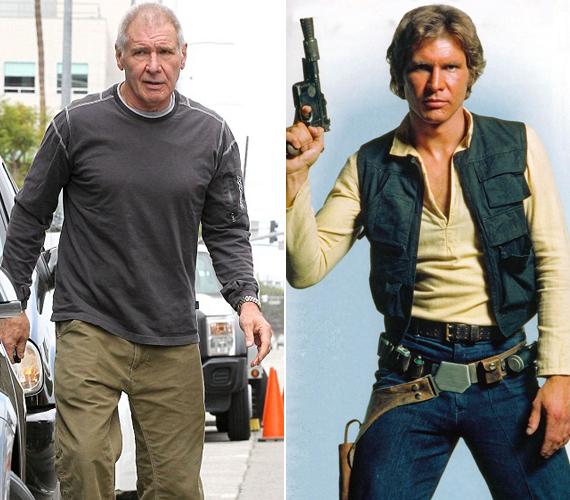 A 73 éves Han Soloról, vagyis Harrison Fordról nemrég készült a bal oldalon látható kép. Nem minden a kor, a színész így is szerepet kapott a legújabb Csillagok háborúja filmben.