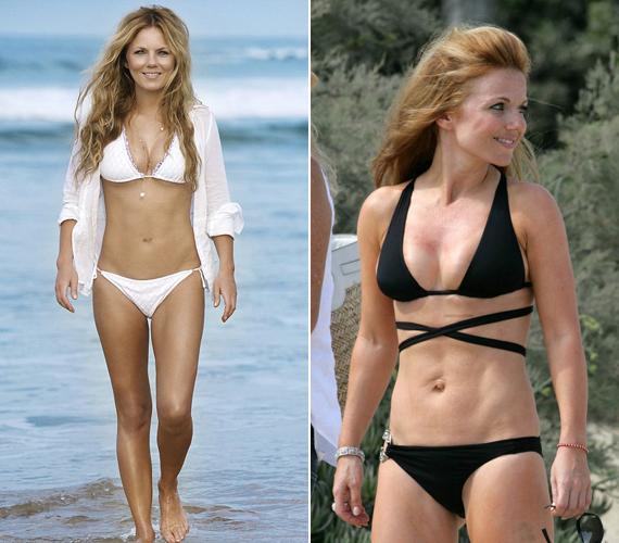 Geri Halliwell, az egykori Ginger Spice szereti, ha bikiniben fotózzák, bár volt olyan időszak, amikor a felszedett kilóitól volt hangos a sajtó.