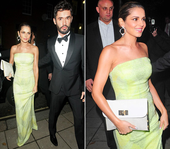 Cheryl Fernandez-Versini is férjével érkezett, földig érő zöld ruhájában igazán elegáns volt.