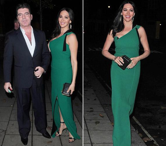 Simon Cowell barátnőjével, Lauren Silvermannal érkezett az eseményre, kisfiukat, Ericet otthon hagyták.
