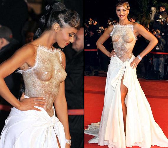 A 26 éves francia R'n'B énekesnő, Shy'm egy egészen elképesztő öltözékben döbbentette meg a világot: a Cannes-ban még az év elején rendezett NRJ Awards díjkiosztó gálán ugyanis egy felül teljesen átlátszó, fagyott fólia hatását keltő darabban jelent meg.