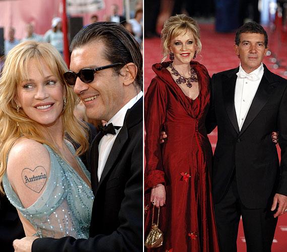 Antonio Banderas-szal 1996 óta él boldog házasságban: örök szerelme jeléül karjára férje keresztnevét tetováltatta.