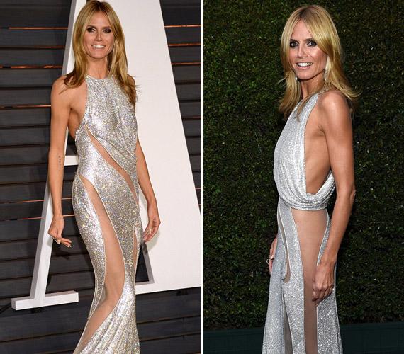 Heidi Klum csak hozta a formáját merész ruhájában.