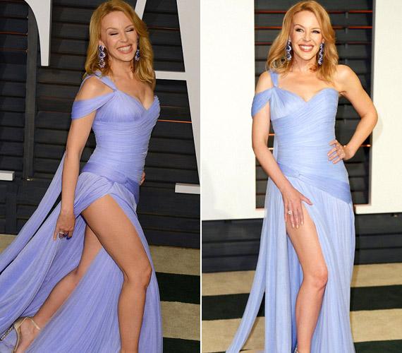 Kylie Minogue nem tudta kihagyni, hogy a lábát mutogassa.