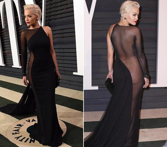 Rita Ora se bugyit, se melltartót nem vett fel, a feneke is kilátszott.