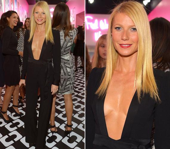 Gwyneth Paltrow január 11-én jelent meg merész dekoltázsú ruhában egy divatshow-n. Akkor robbant ki a botrány, hogy megcsalta a férjét.