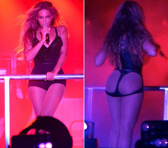 AzOn the Run turnéja nyitóestjén Miamiban Beyoncé egy igen merész, egész fenekét szabadon hagyó ruhában lépett fel.