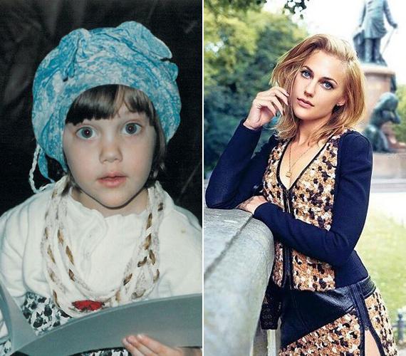 Úgy tűnik a színésznő már gyerekként odavolt a különleges ruhákért, ami azóta sem változott. A jobb oldali kép két éve készült róla.
