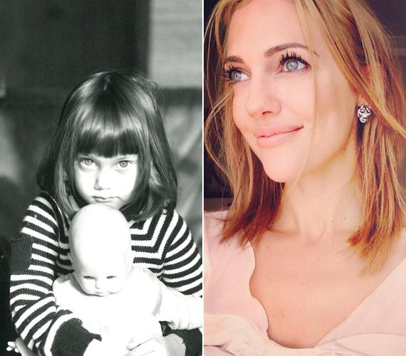 A színésznőnek már kiskorában is nagyon átható tekintete volt, a fekete-fehér képen szinte világít a szeme. A mai napig ezzel hódít.