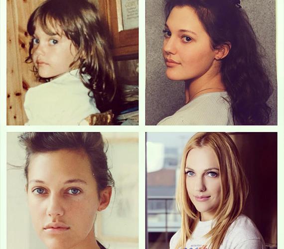 Képeken a színésznő átváltozása. Meryem osztotta meg ezt a montázst, amelyen egyszerre szerepelnek kiskori, fiatalkori és mostani fotói.